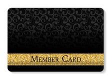 Иллюстрация вектора карточки членов VIP Стоковые Изображения RF