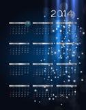 иллюстрация вектора календаря 2014 Новых Годов иллюстрация вектора