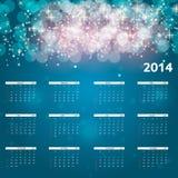 иллюстрация вектора календаря 2014 Новых Годов иллюстрация штока