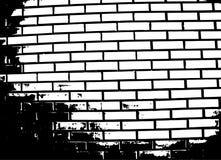 Иллюстрация вектора кирпичной стены Стоковое Фото