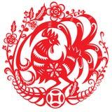 Иллюстрация вектора китайского года петуха иллюстрация штока