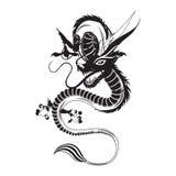Иллюстрация вектора китайского дракона плоская Стоковая Фотография RF