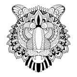 Иллюстрация вектора книжка-раскраски тигра Стоковое Фото