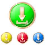 Иллюстрация вектора кнопки загрузки Стоковые Фотографии RF