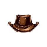 Иллюстрация вектора ковбоя шляпы Стоковые Изображения