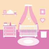 Иллюстрация вектора комнаты младенца Стоковое фото RF