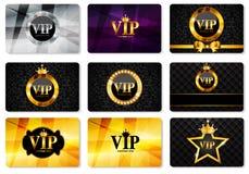 Иллюстрация вектора комплекта карточки членов VIP Стоковое Изображение