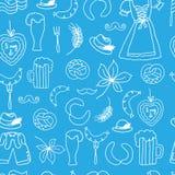Иллюстрация вектора комплекта элементов Oktoberfest Стоковое Изображение