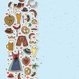 Иллюстрация вектора комплекта элементов Oktoberfest Стоковое Изображение RF