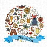 Иллюстрация вектора комплекта элементов Oktoberfest Стоковое Фото