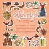 Иллюстрация вектора комплекта элементов Oktoberfest Стоковая Фотография