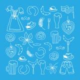 Иллюстрация вектора комплекта элементов Oktoberfest бесплатная иллюстрация