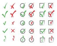 Иллюстрация вектора контрольных пометок Стоковое Фото