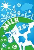 Иллюстрация вектора коровы Стоковые Изображения RF
