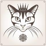 Иллюстрация вектора кота Стоковые Изображения RF
