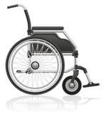 Иллюстрация вектора кресло-коляскы Стоковое Изображение
