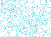 Иллюстрация вектора кругов doodle Нарисованная вручную картина Стоковое Фото