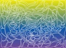 Иллюстрация вектора кругов doodle Нарисованная вручную картина Стоковая Фотография