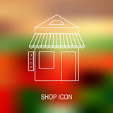 Иллюстрация вектора магазина Стоковые Фото