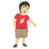 Иллюстрация вектора мальчика радушная Стоковые Фотографии RF
