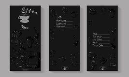 Иллюстрация вектора меню кофе Стоковые Фотографии RF