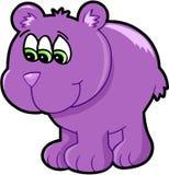 Иллюстрация вектора медведя мутанта чужеземца Стоковые Изображения