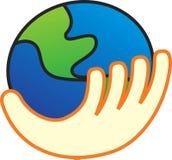 Иллюстрация вектора мира в руке Стоковое Фото