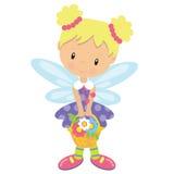 Иллюстрация вектора милого сада fairy Стоковые Изображения