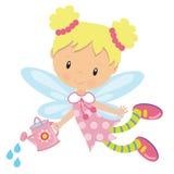 Иллюстрация вектора милого сада fairy Стоковые Фотографии RF