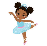 Иллюстрация вектора милой маленькой балерины Стоковое Изображение
