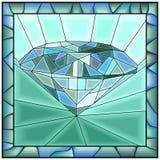 Иллюстрация вектора мозаики диаманта Стоковые Изображения RF