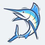 Иллюстрация вектора морской жизни меч-рыб Стоковые Фотографии RF