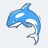 Иллюстрация вектора морской жизни Grampus Стоковая Фотография RF
