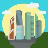 иллюстрация вектора Москв-города Стоковое Фото