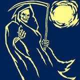 Иллюстрация вектора мрачного жнеца Стоковое Изображение