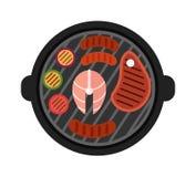 Иллюстрация вектора мяса гриля иллюстрация штока