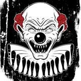 Иллюстрация вектора нарисованная рукой сердитого клоуна Стоковое Фото