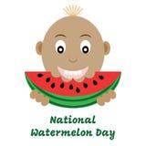 Иллюстрация вектора национального дня арбуза Стоковое Фото