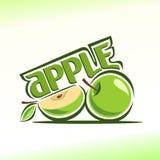 Иллюстрация вектора на теме яблока Стоковое Изображение
