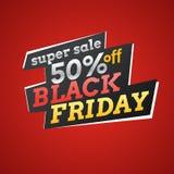Иллюстрация вектора на черная пятница Большие продажи Стоковое Изображение