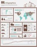 Иллюстрация вектора нефтедобывающей промышленности infographic Стоковое Изображение