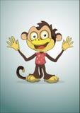 Иллюстрация вектора обезьяны Стоковое Изображение RF