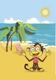 Иллюстрация вектора обезьяны Стоковые Изображения RF