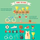 Иллюстрация вектора оборудования спорта Стоковые Изображения