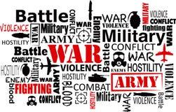 Иллюстрация вектора облака слова насилия войны иллюстрация штока