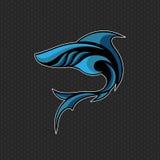 Иллюстрация вектора логотипа акулы стоковое изображение