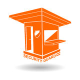 Иллюстрация вектора логотипа караульного помещения и охранника Стоковое Изображение RF