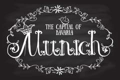 Иллюстрация вектора логотипа Мюнхена Стоковое Изображение RF