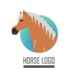 Иллюстрация вектора логотипа лошади в плоском дизайне Стоковое Изображение RF