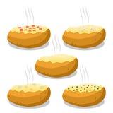 Иллюстрация вектора логотипа для коричневой картошки Стоковые Фотографии RF